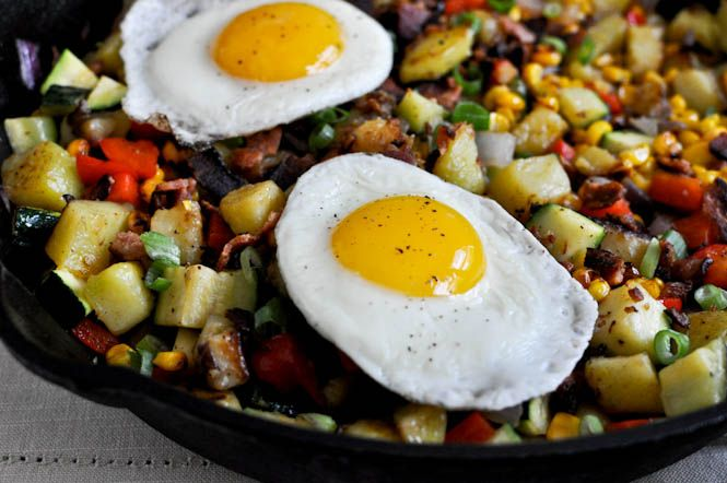 Summer Breakfast Hash (with Grilled Corn, Zucchini and Red Pepper)