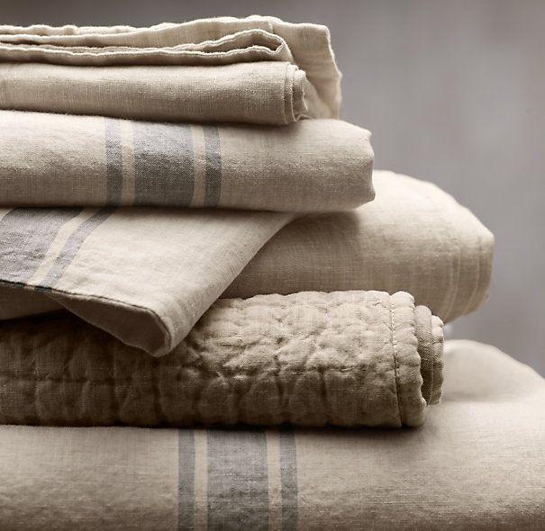 Belgian Linen Provence Stripe Sham Fabric Pinterest
