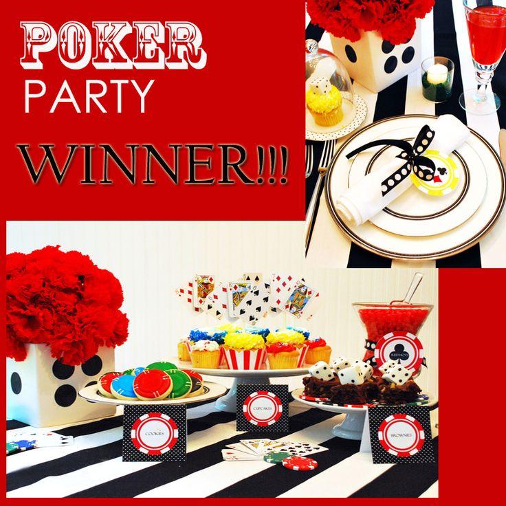Poker party decor