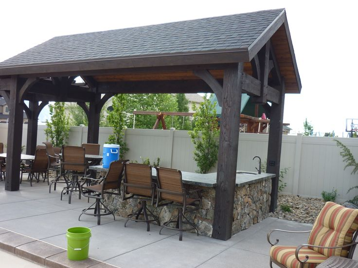 Outdoor Kitchen And Covered Pergola House Idea Pinterest