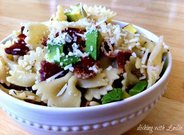 Avocado, Bacon, & Basil Pasta Salad - Some of my favorite ingredients ...