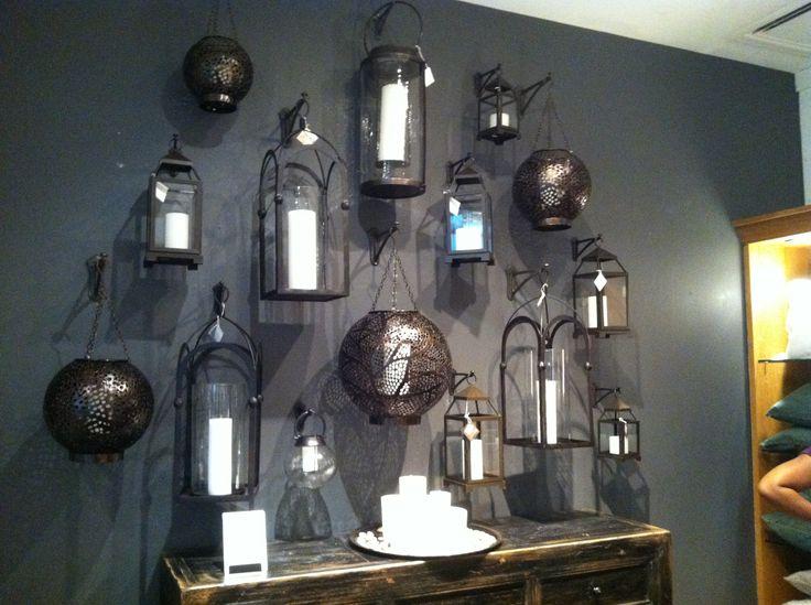 Wall of lanterns home decor pinterest Home decor lanterns