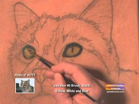 cat ... how to paint videos