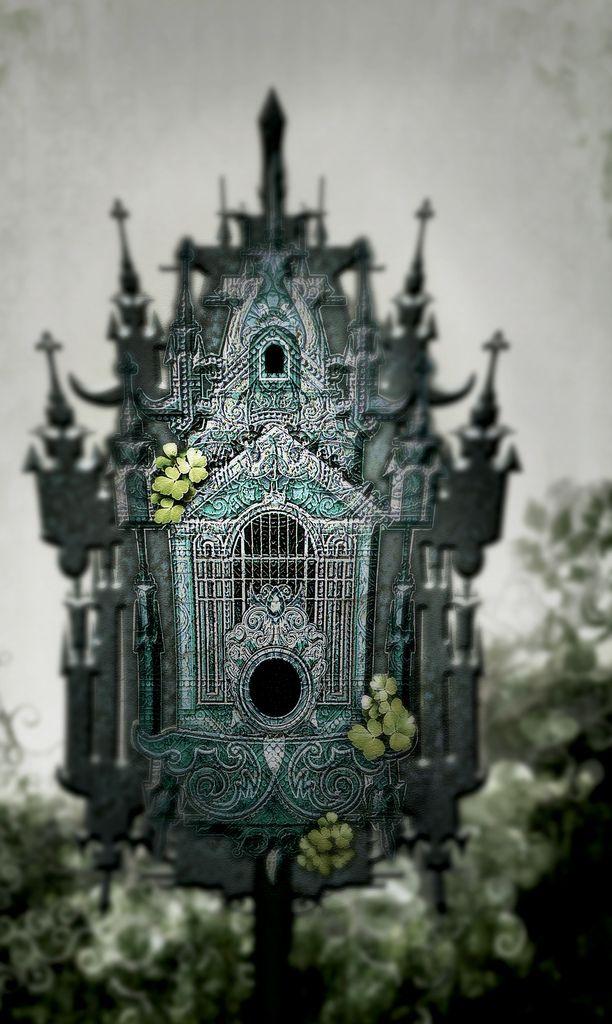 antique victorian birdhouse.