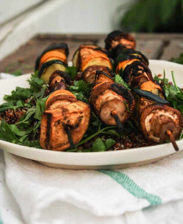 miso-glazed veggie kebabs - Dishing Up the Dirt (vegan, gluten-free)