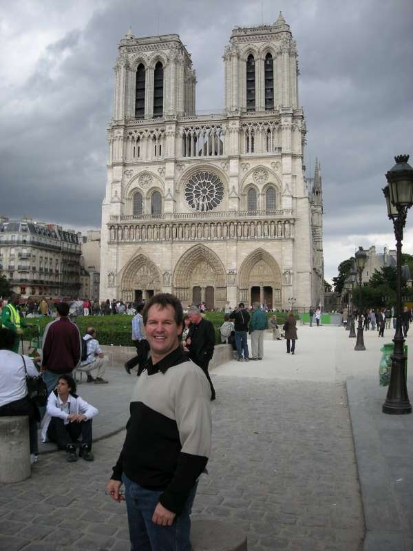 Darren at Notre Dame, France