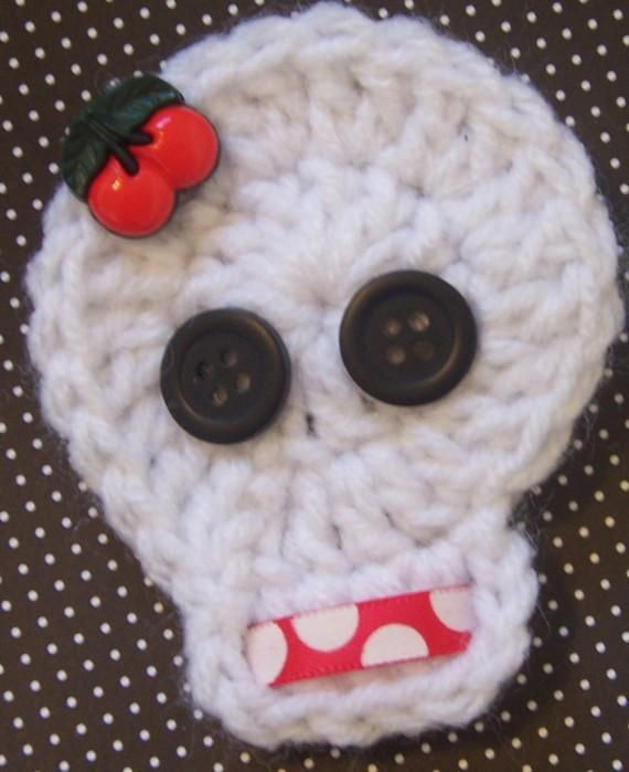 Crochet skull! Crochet Ideas Pinterest