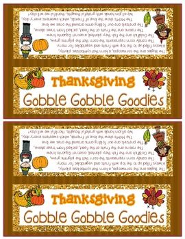 THANKSGIVING SNACK MIX {GOBBLE GOBBLE GOODIES} {FUN POEM} AND {BAG ...
