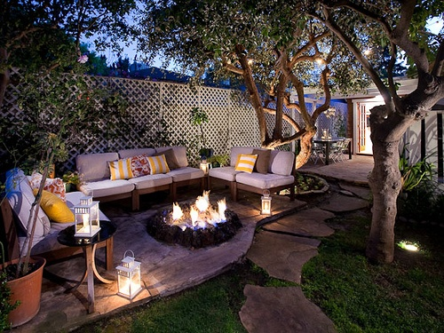 dream backyard fire pit outdoors pinterest
