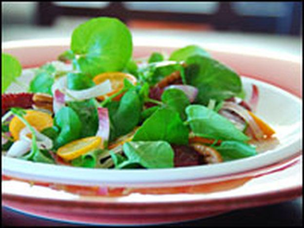 Watercress and Endive Salad with Kumquats and Blood Oranges