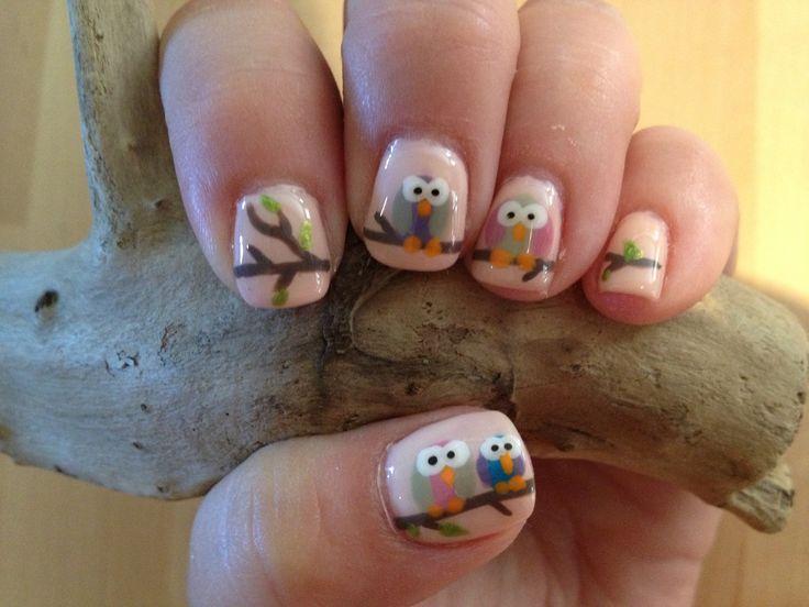 Dorable Nail Art Owls Adornment - Nail Art Design Ideas ...