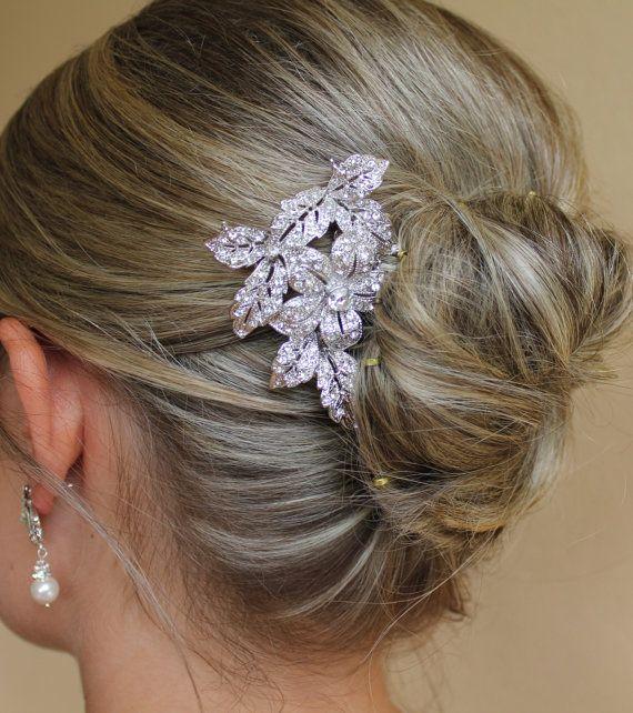 Etsy com listing 129741660 bridal hair comb vintage wedding crystal