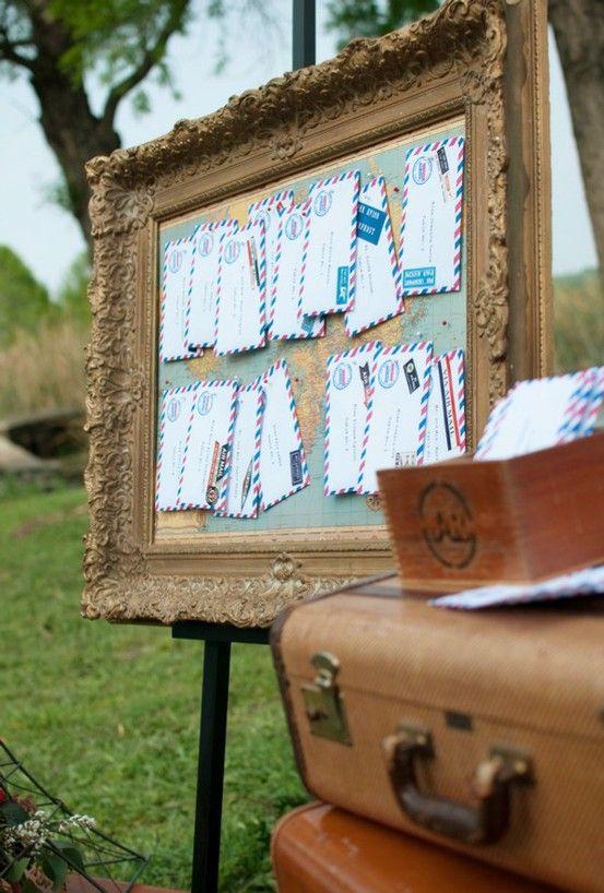 Travel theme wedding detail: letters. Greer Loves: June 2011