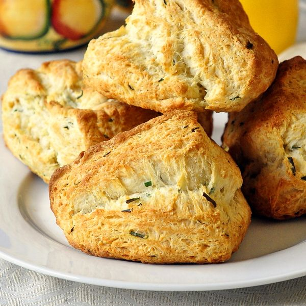 BUTTERMILK CHIVE BISCUITS: You can change up the herbs to suit ...