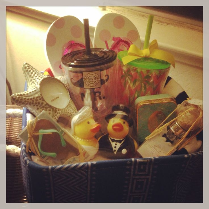 Hawaii destination wedding gift basket Lou Lou Wedding Pinterest