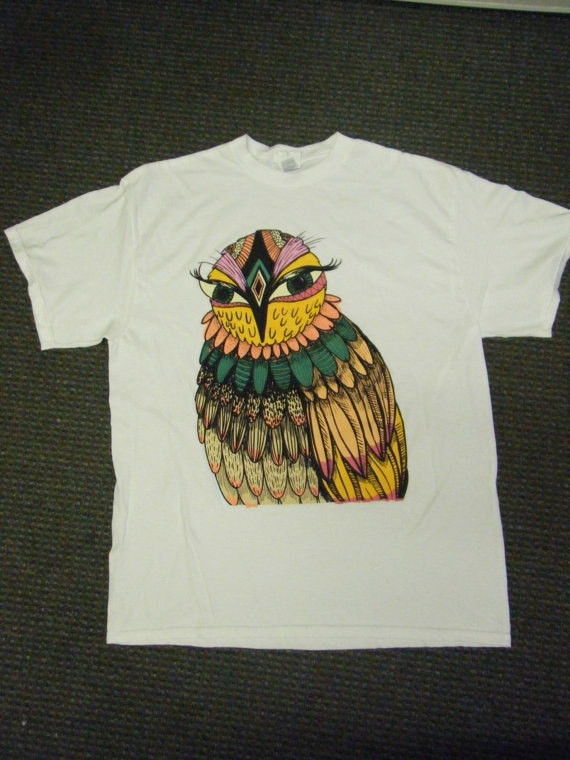 Owl tee shirt who loves owls pinterest T shirt with owl design