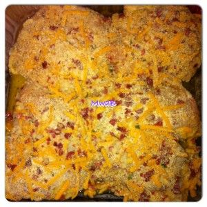 Baked chicken with bacon and cheese | Food | Pinterest