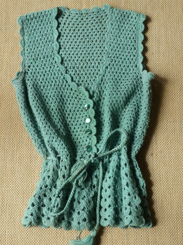 Crocheting By Hand : vintage 70s hand crochet turquoise top! Exquisite colour and detail ...