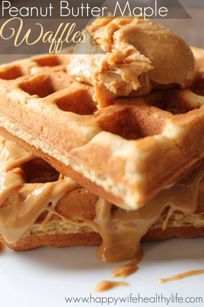 Peanut Butter Maple Waffles (make these with soy nut butter!)