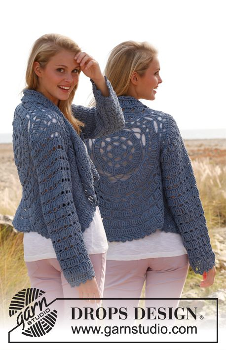 Crochet Jacket Free Pattern Via Garn Studio : Drops Design Crochet Circle Jacket Pattern Free sukarame.net