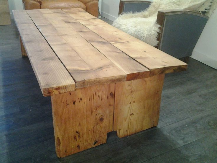 table basse planches r cup ration mobilier d coration