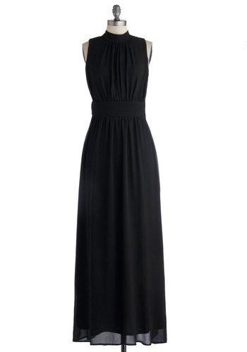 City maxi dress chiffon woven long black solid casual maxi