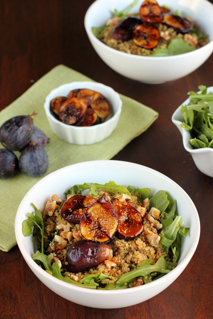 Balsamic Honey Grilled Fig Quinoa Bowl | Yummy | Pinterest