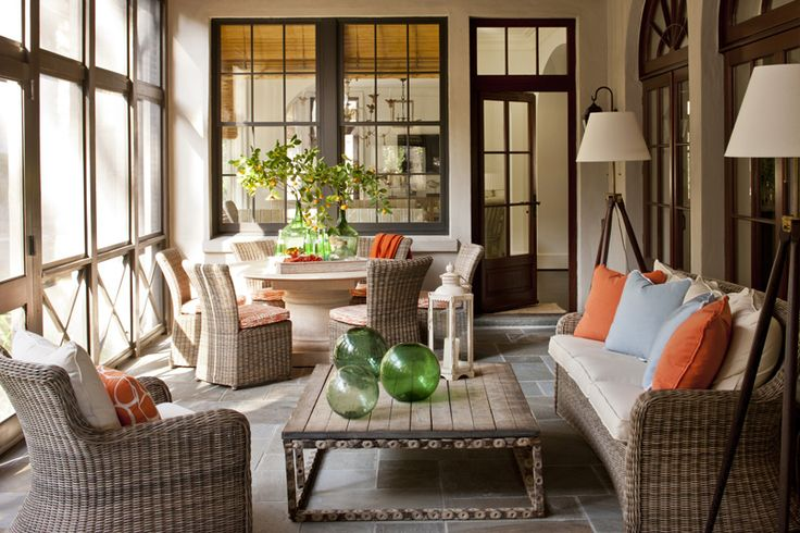 Phoebe Howard sun porch styling!  #coastalliving #coastalrooms