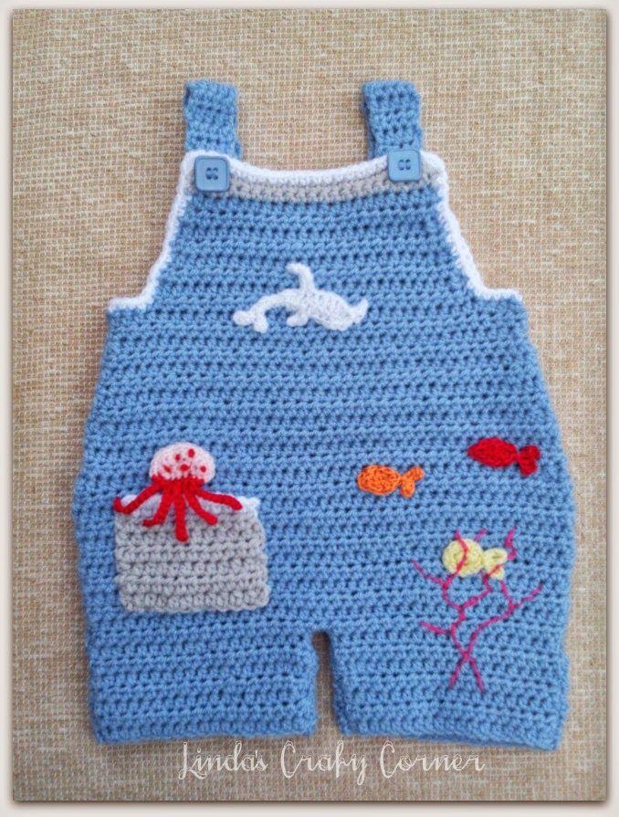 Crochet Pattern Baby Dungarees : Pin by Oombawka Design on CrochetHolic - HilariaFina ...