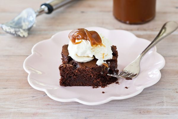 Salted Caramel Chocolate Brownie Dessert | Recipe