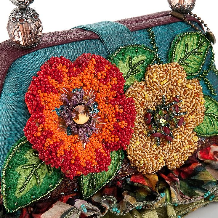 ~~Mary Frances Bali Floral Bag with Beaded Handle~~