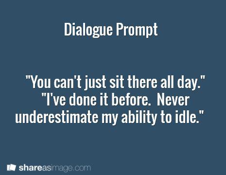 write dialogues essay