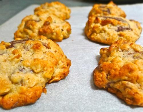 banana-walnut chocolate chunk cookie | desserting | Pinterest