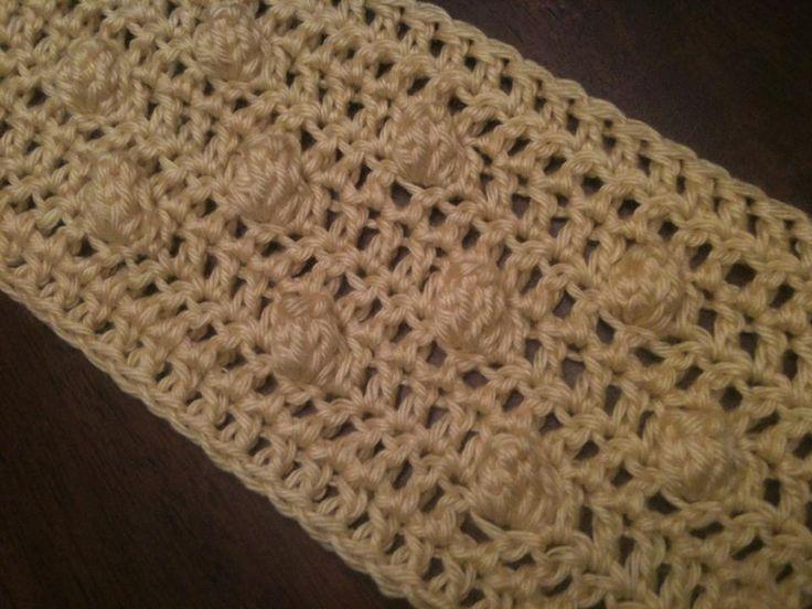 Crochet Scarf Patterns With Popcorn Stitch : popcorn stitch scarf my crochet corner Pinterest