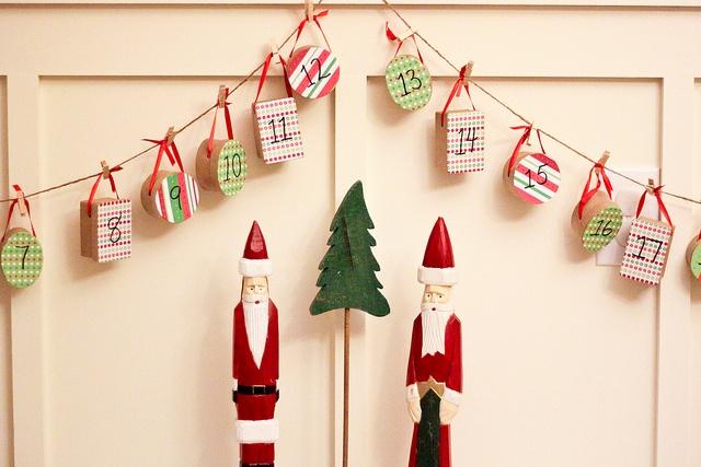 advent small box garland christmas crafts pinterest