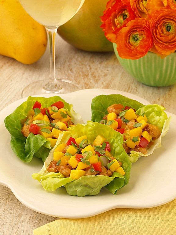 Mango Chicken Lettuce wraps with Mirassou Riesling will add flavor and ...