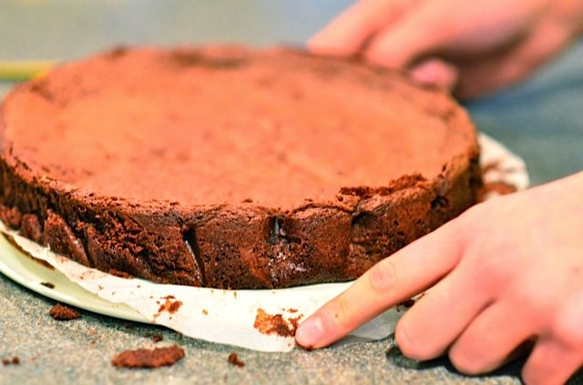 Dark Chocolate Flourless Cake (ReluctantEntertainer.com) | Recipe