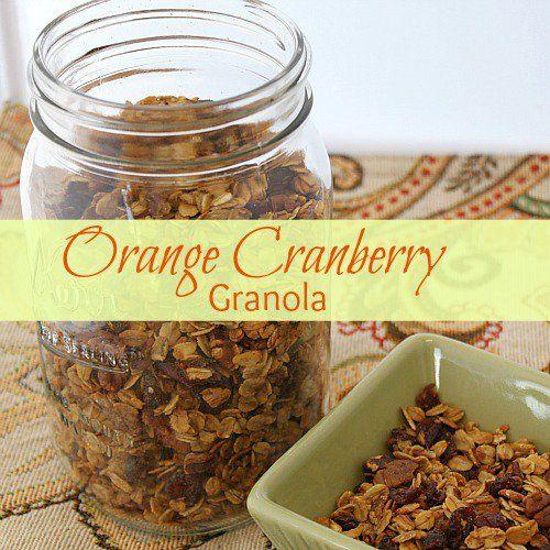 Cranberry Orange Granola Recipe | breakfast pancakes waffles pies | P ...