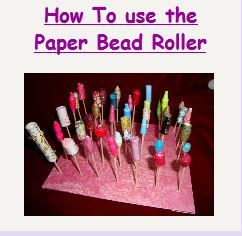 "A  Tutorial on how to use The Paper Bead Roller. So easy to roll Paper Beads with this amazing little ""machine"". (See The Paper Bead Roller on this board."