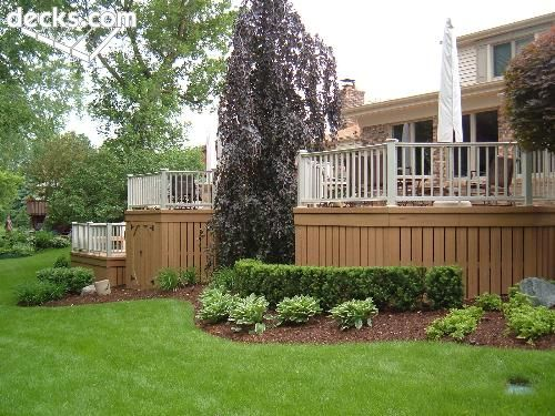 Images Of Landscaping Around Deck : Nice landscaping around deck garden hoe