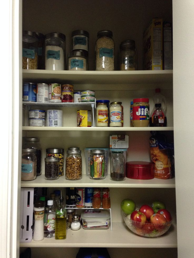 Organizing A Small Pantry Space Organize Pinterest