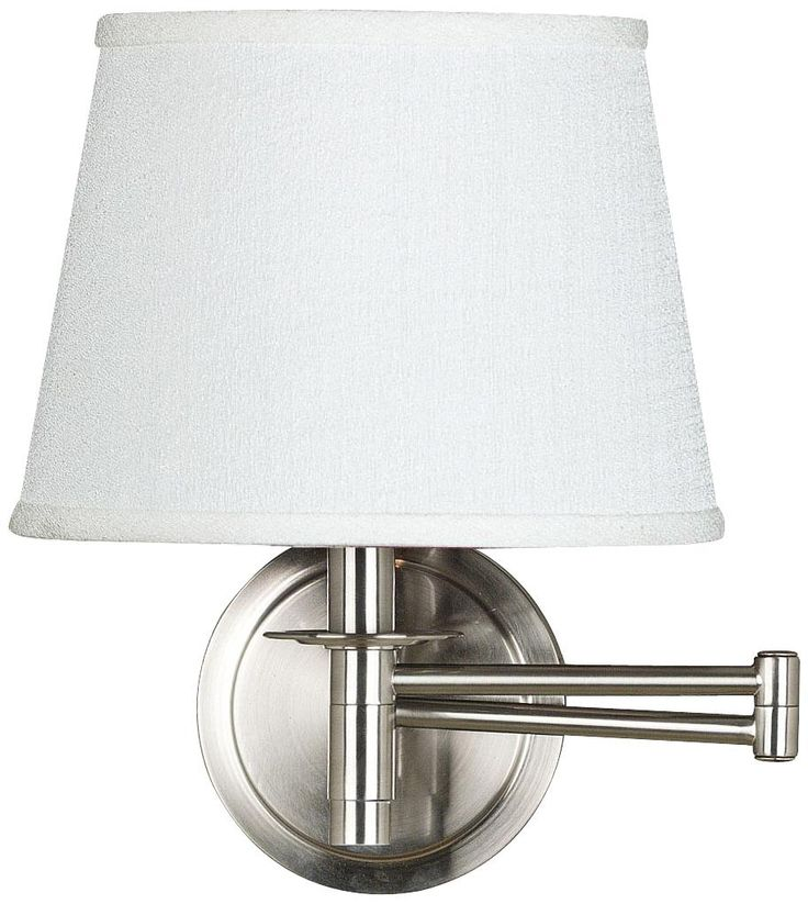 kenroy sheppard brushed steel plug in swing arm wall lamp. Black Bedroom Furniture Sets. Home Design Ideas