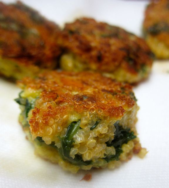 Quinoa and Kale Cakes | Veggie and Vegetarian Recipes | Pinterest