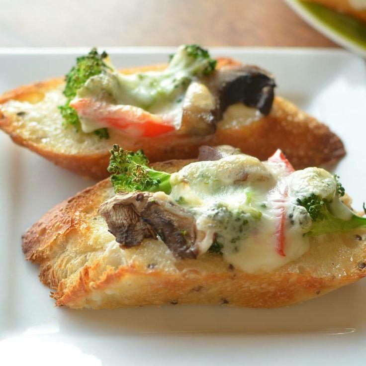 Melt ~chopped broccoli ~Sliced portobello mushrooms ~Chopped red ...
