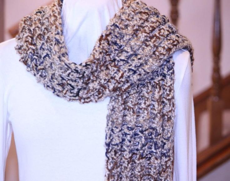 Knitting Patterns For Scarves On Pinterest : Easy Double Rib Knit Scarf Pattern My Pattern Designs Pinterest