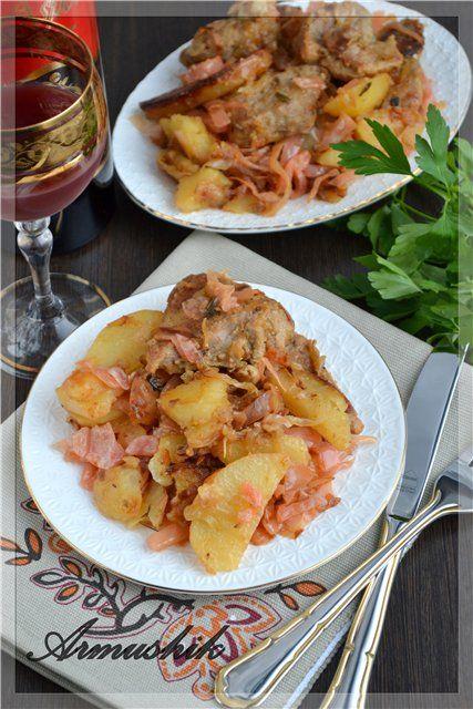 Картошка с капустой жареная с фото