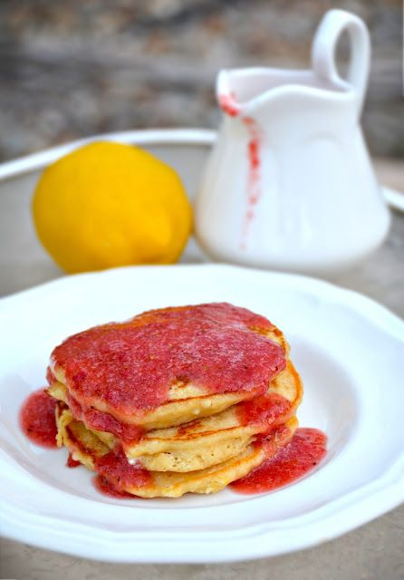 Lemon Ricotta Gelato With Strawberry Sauce Recipes — Dishmaps