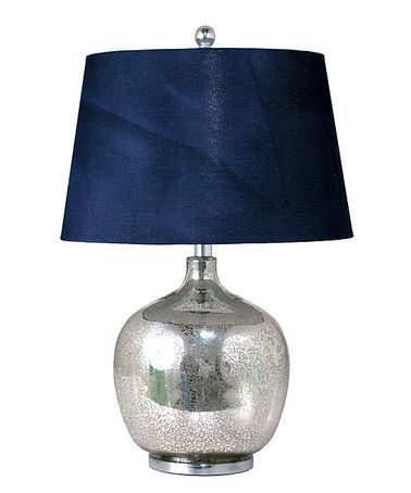 Navy Blue Mercury Glass Table Lamp