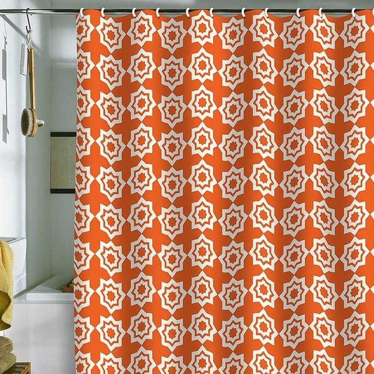 Orange Shower Curtain | Home Decore | Pinterest
