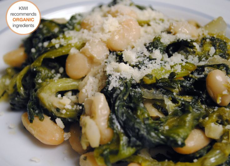 Cheesy braised escarole and beans | Recipes | Pinterest
